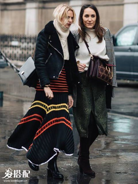 冬季学穿半身裙,这样搭配才叫完美